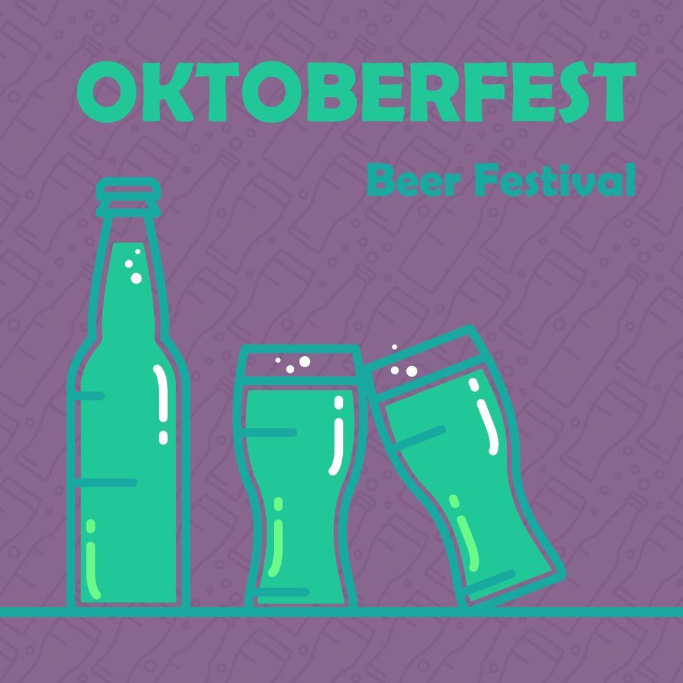 banner de cerveja oktoberfest vetor