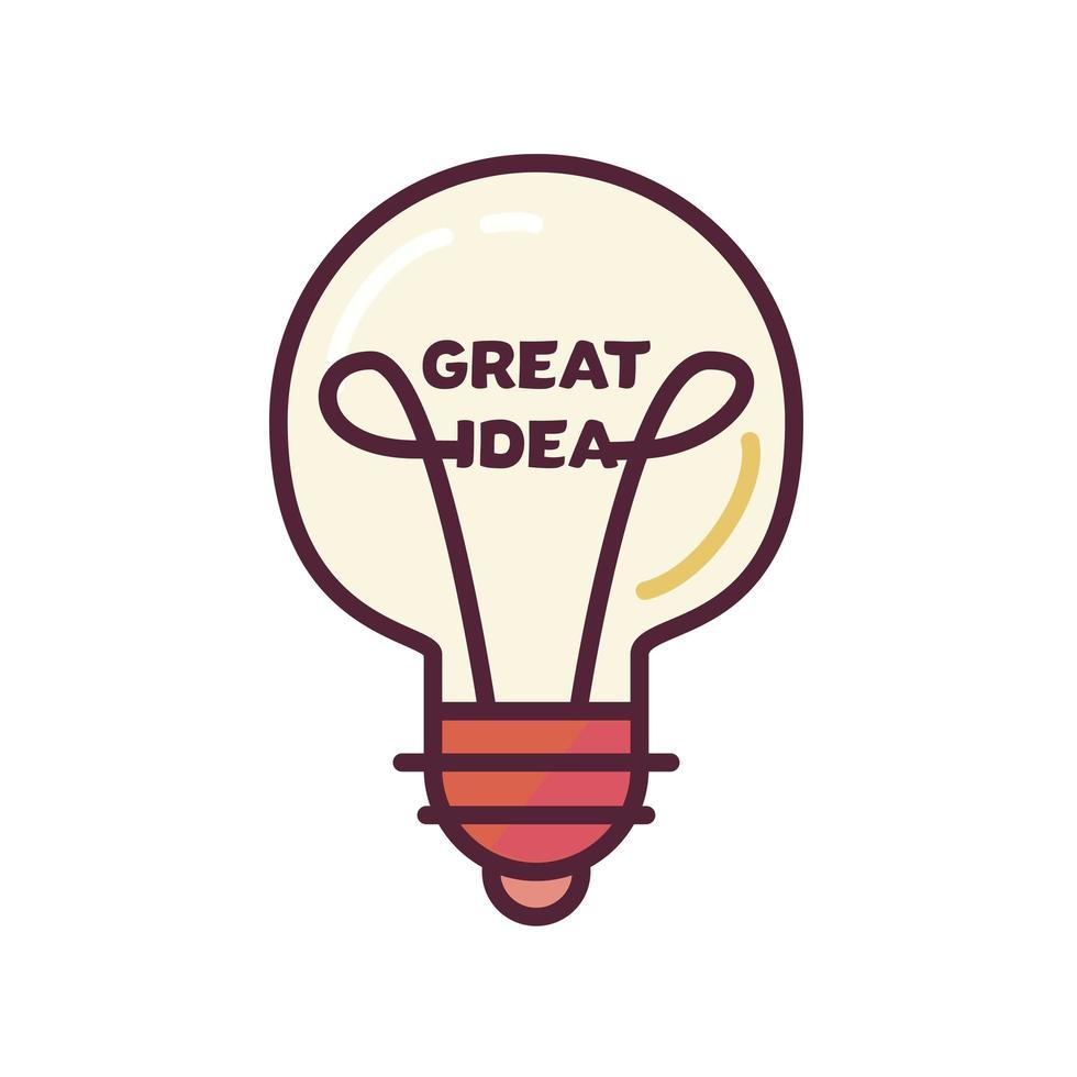 conceito de ótima ideia vetor