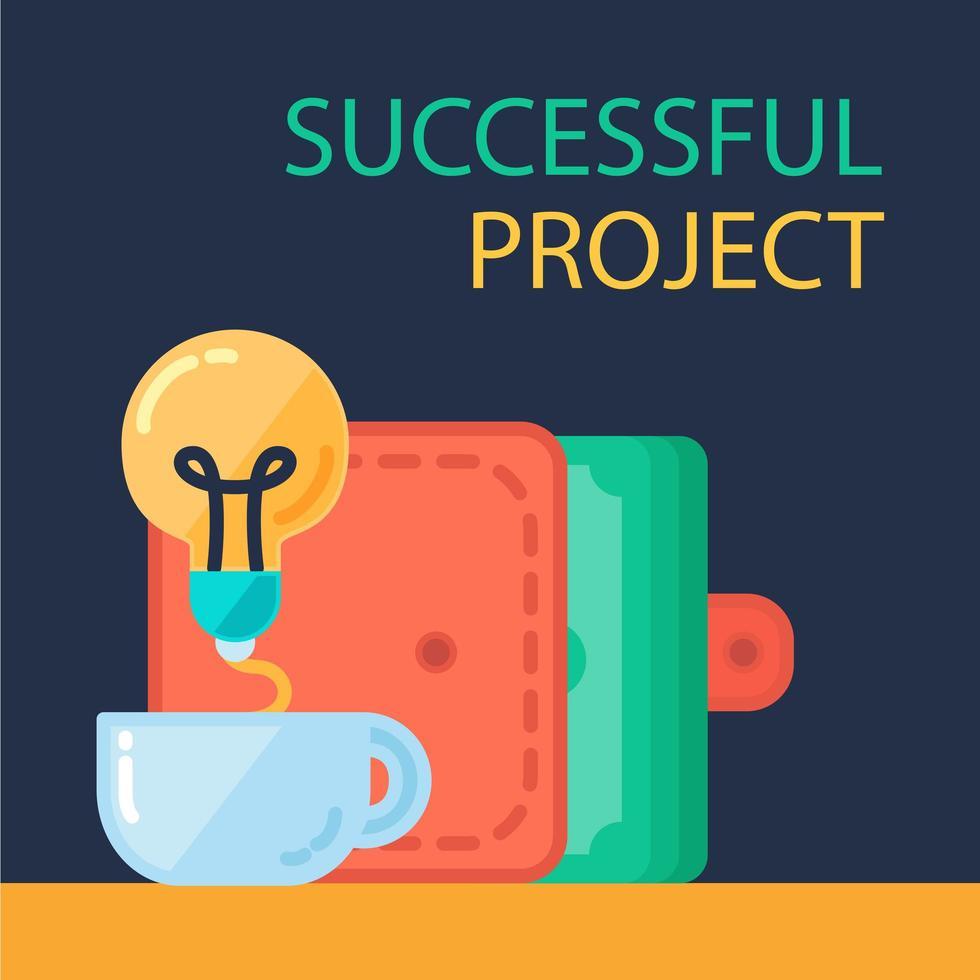 banner de projeto de sucesso vetor