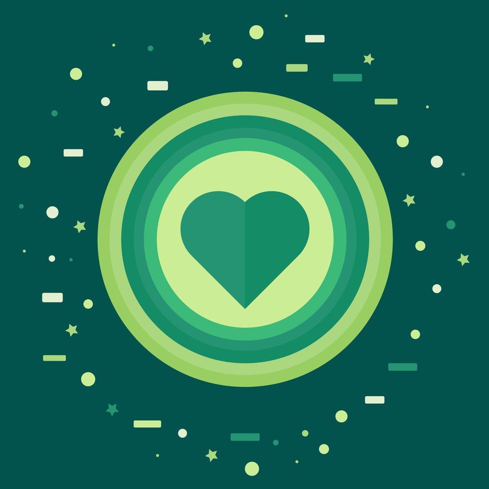 como ícone com coração vetor