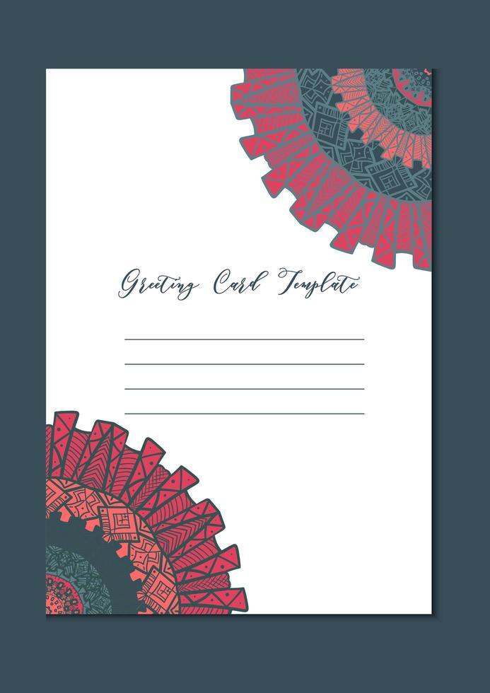mandala oriental template card vetor