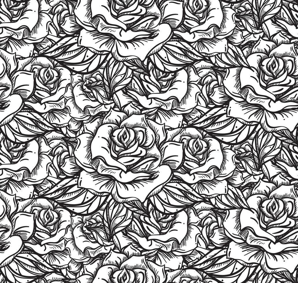padrão de costura rosa de casamento vetor