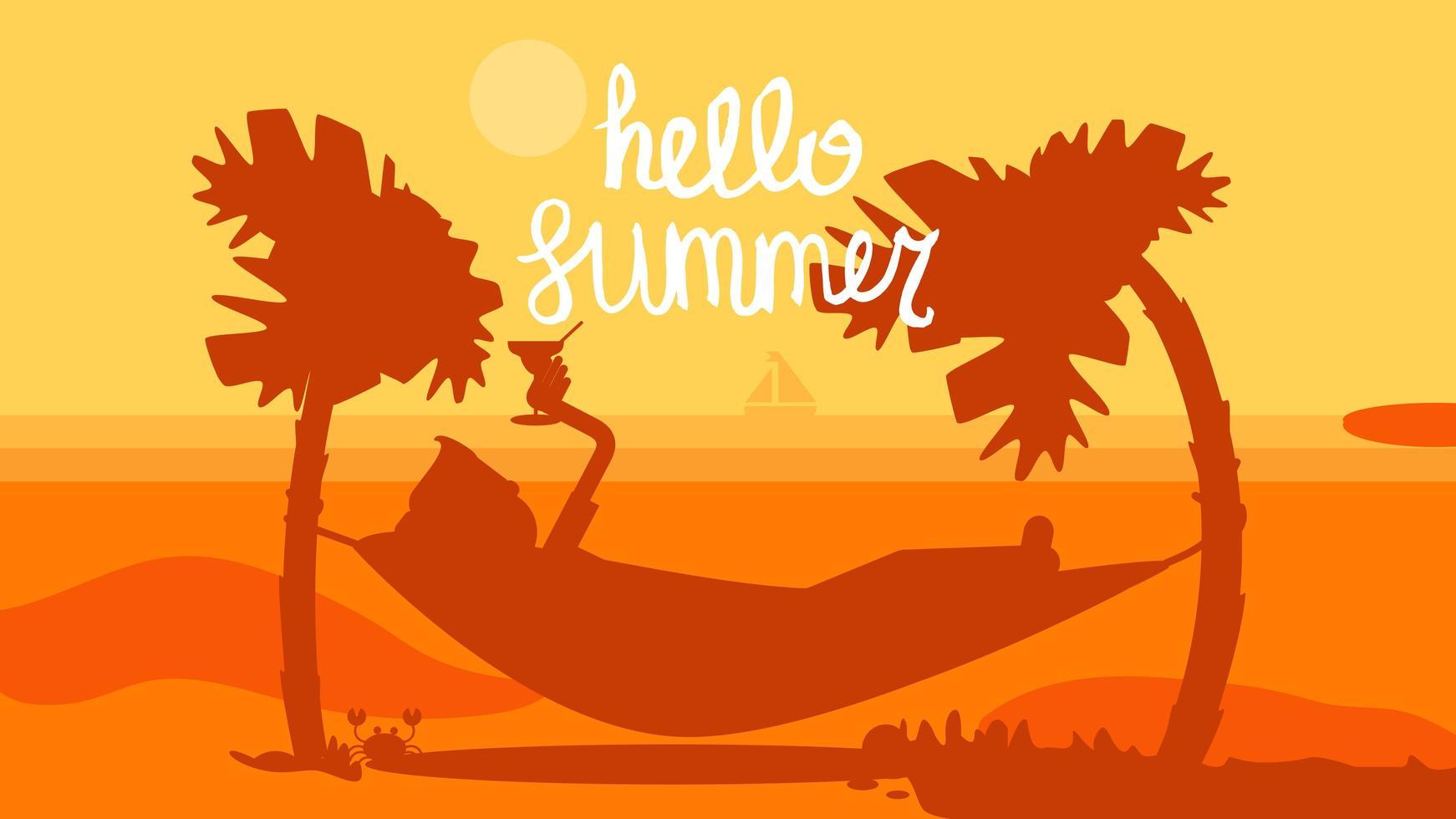 Olá conceito de verão vetor