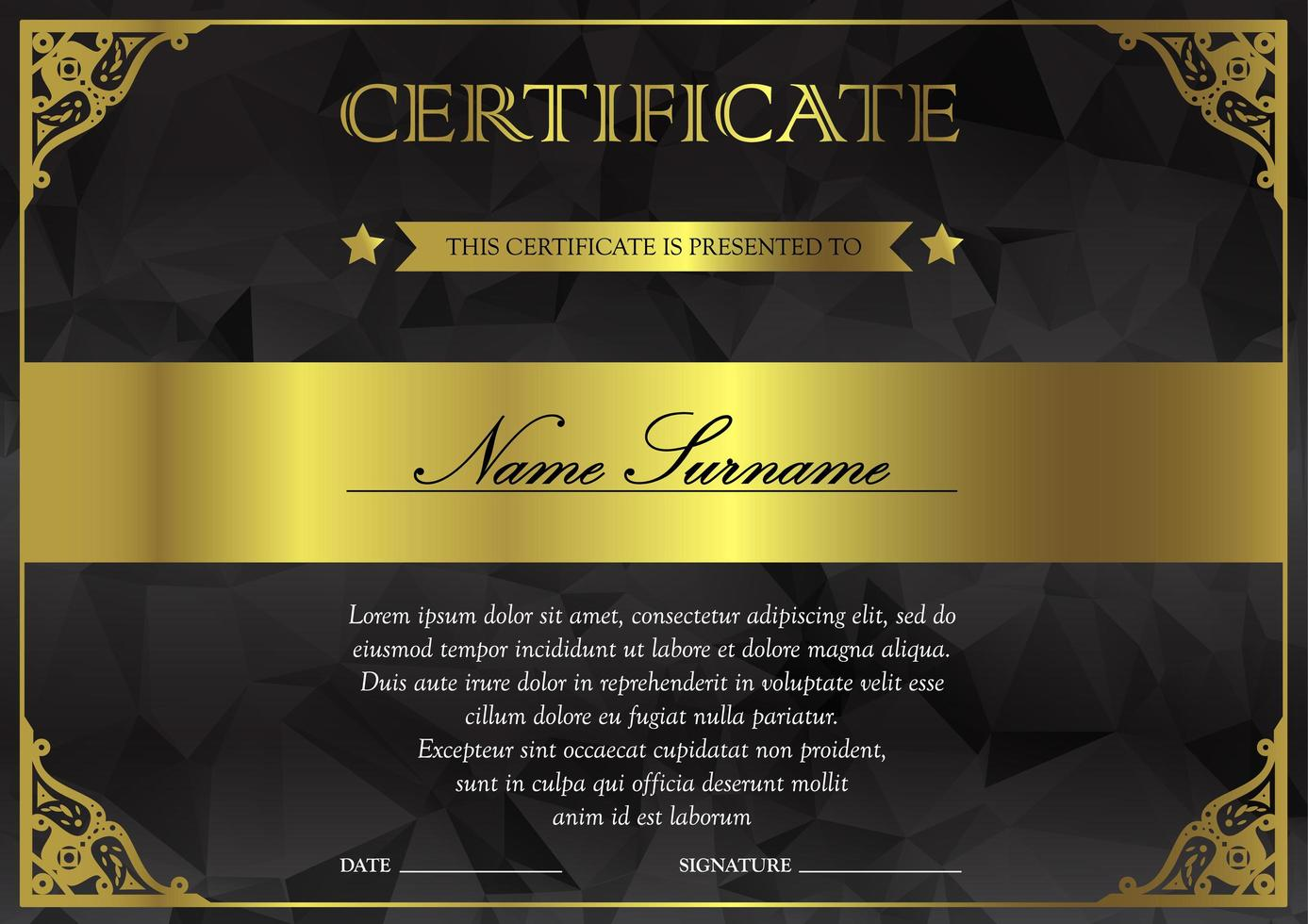 modelo de certificado e diploma vetor