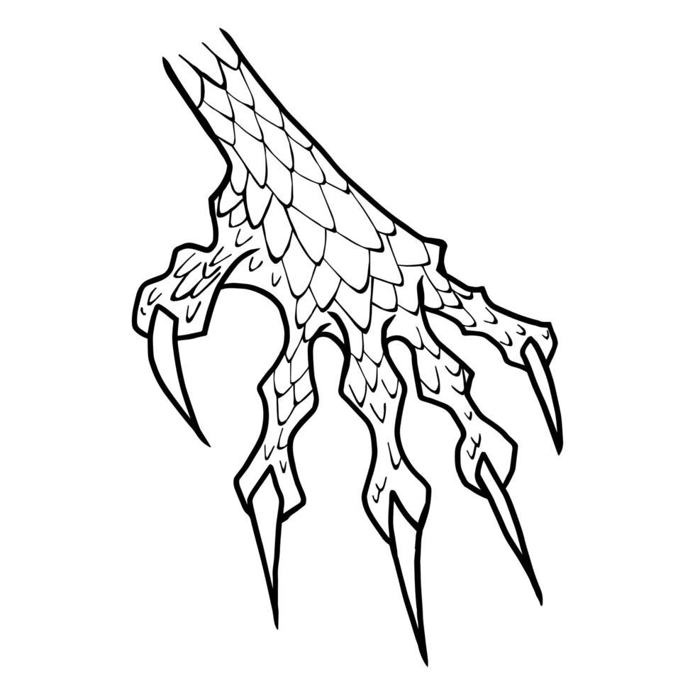 pata de dragão ou monstro vetor