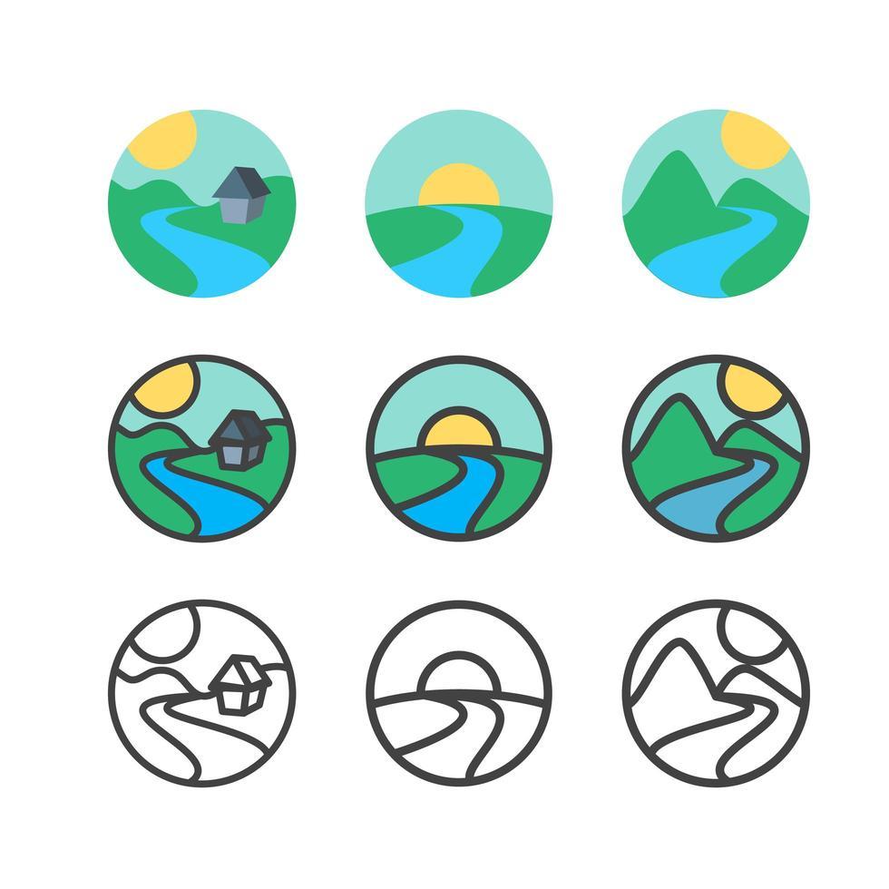 modelo de logotipo de ecologia vetor