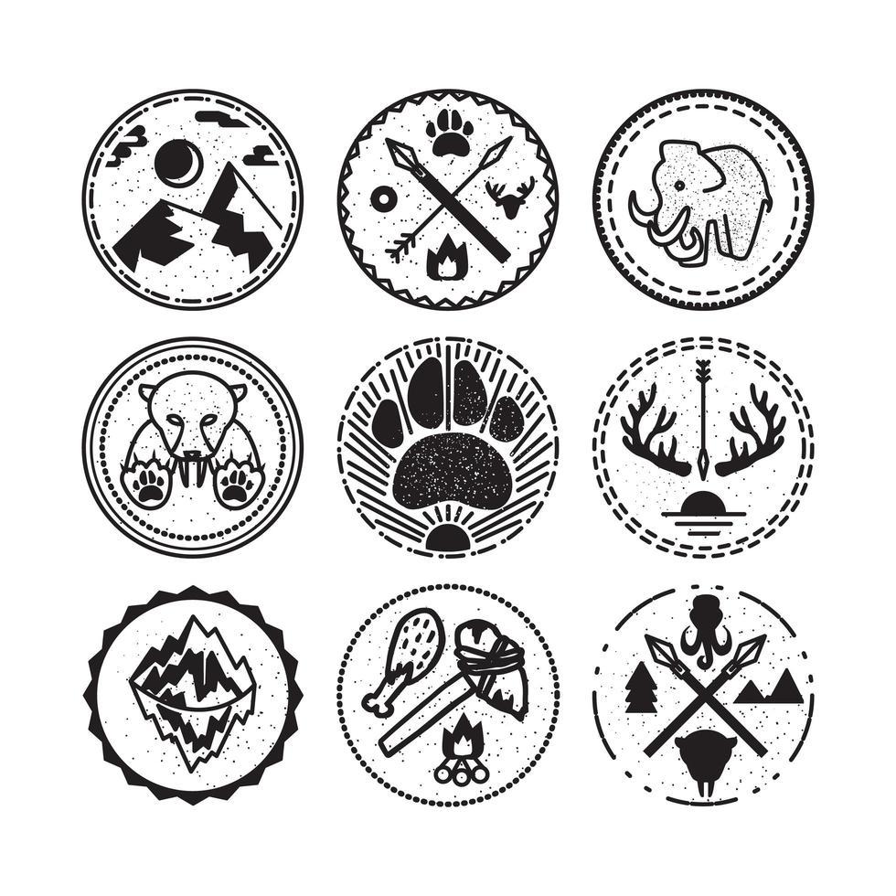 natureza e emblemas históricos vetor
