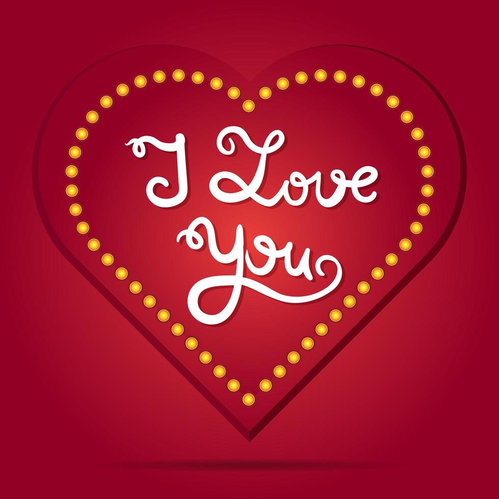 cartão de amor de dia dos namorados e casamento vetor