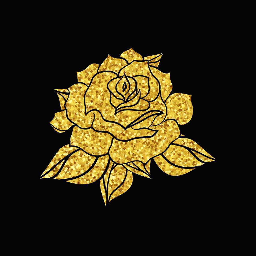 rosa de casamento desenhada à mão vetor