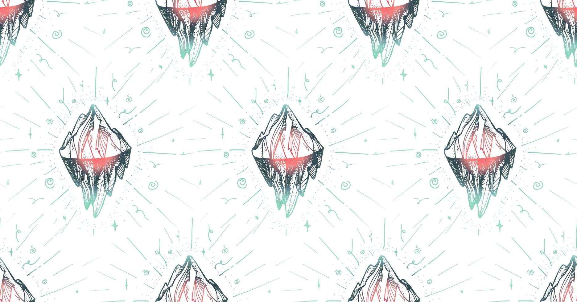 pico do iceberg da montanha vetor