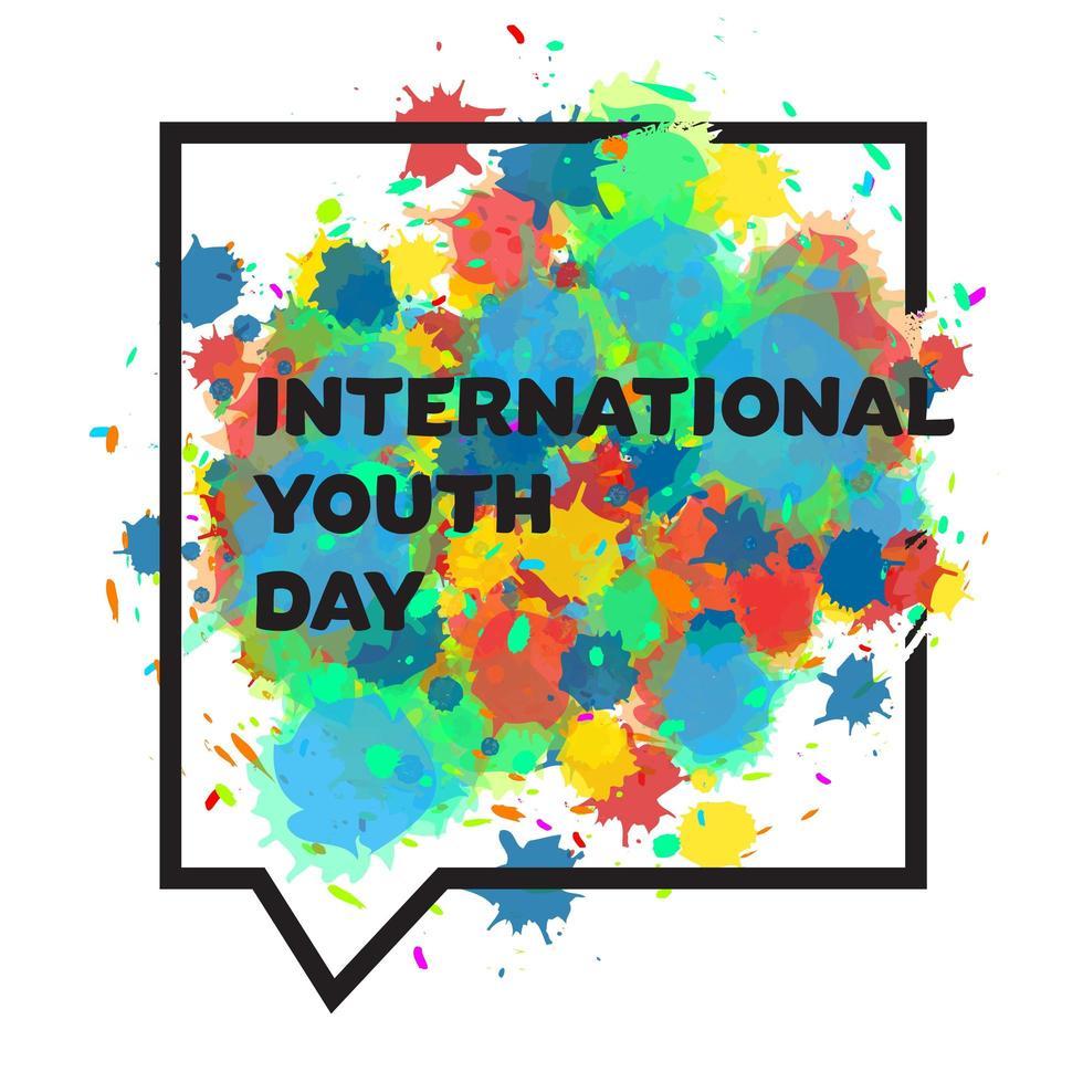 banner internacional do dia da juventude vetor
