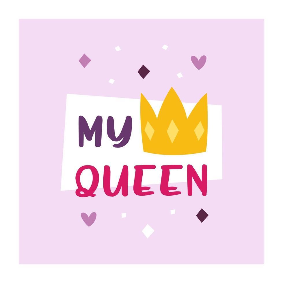 feriado de são namorados design da minha rainha vetor