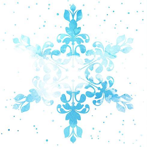 Floco de Neve Aquarela vetor