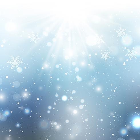 Fundo de floco de neve de Natal vetor