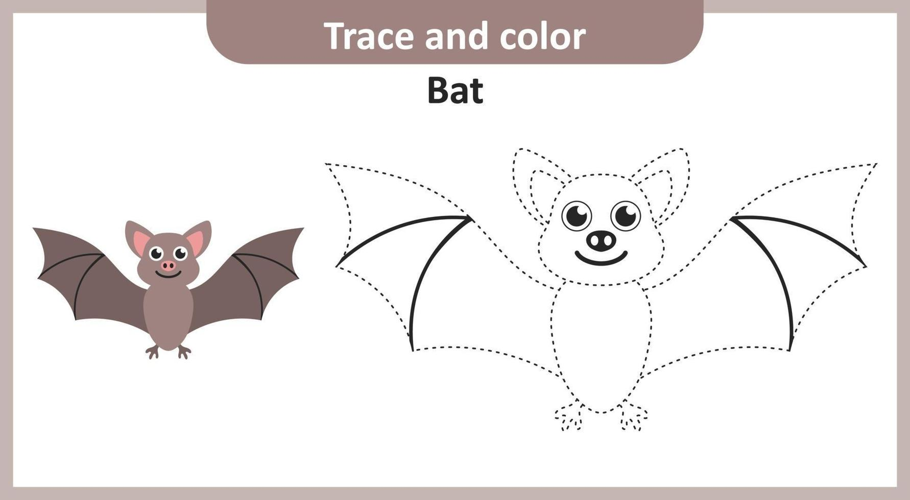 traço e morcego colorido vetor