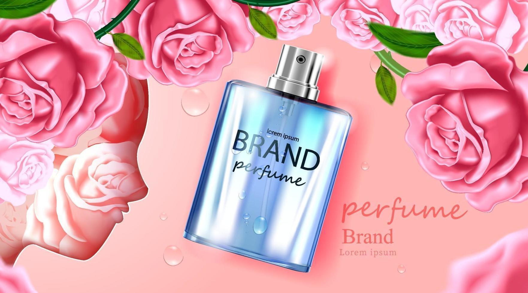 frasco cosmético pacote creme de cuidado da pele vetor