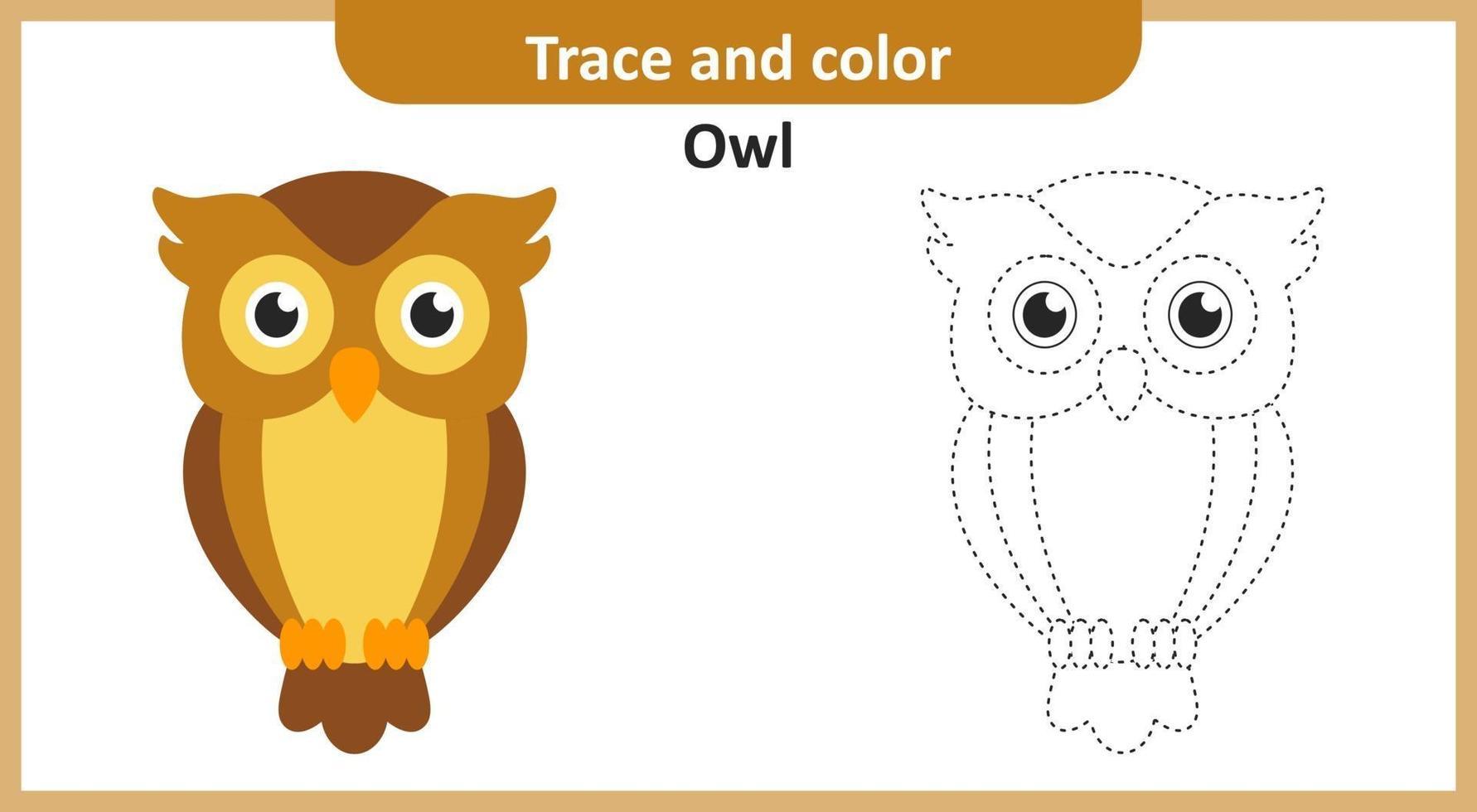 traço e cor da coruja vetor