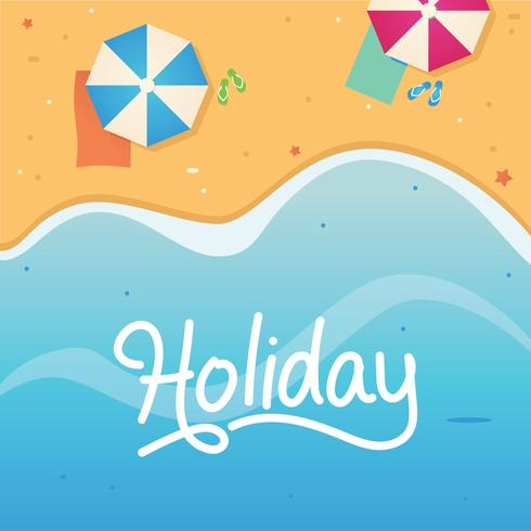 Ilustração de férias de férias de praia vetor