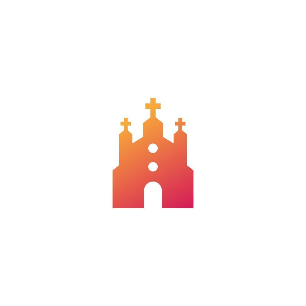 igreja, ícone do templo católico, vetor sign.eps