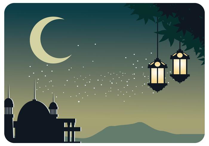 Vetor De Fundo Da Tarde De Ramadhan
