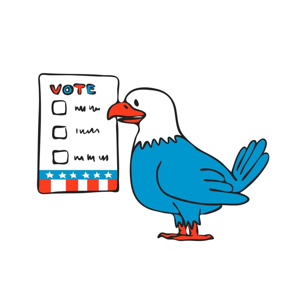 cédula de votação águia americana vetor