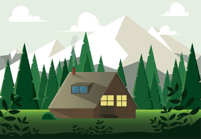 Ilustração em vetor natureza paisagem