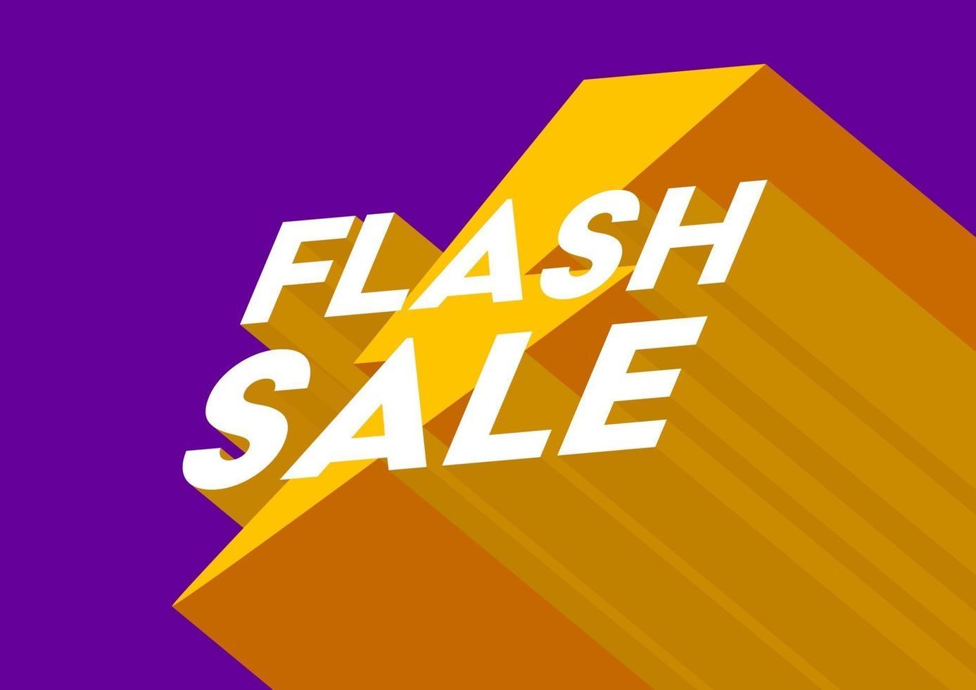 cartaz de venda flash ou design de folheto. venda flash modelo de banner 3d. vetor