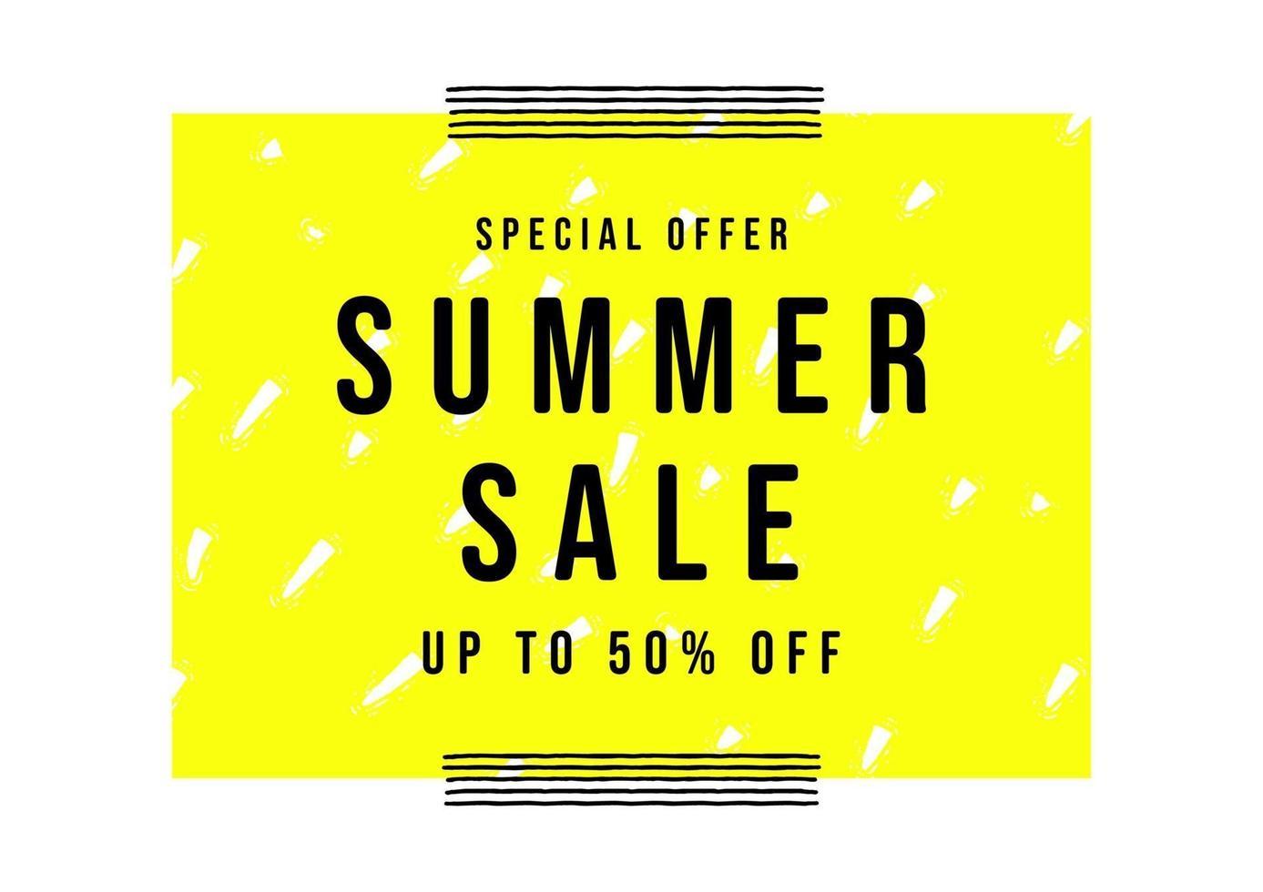 modelo de banner de venda de verão. estilo minimalista de cartaz de venda. vetor