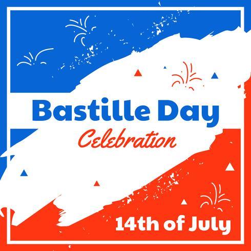 Cartaz do dia de Bastille vetor