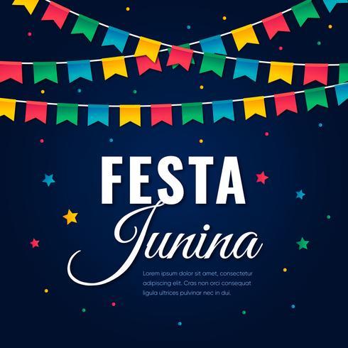 Festa brasileira Junina Cartão Comemorativo vetor