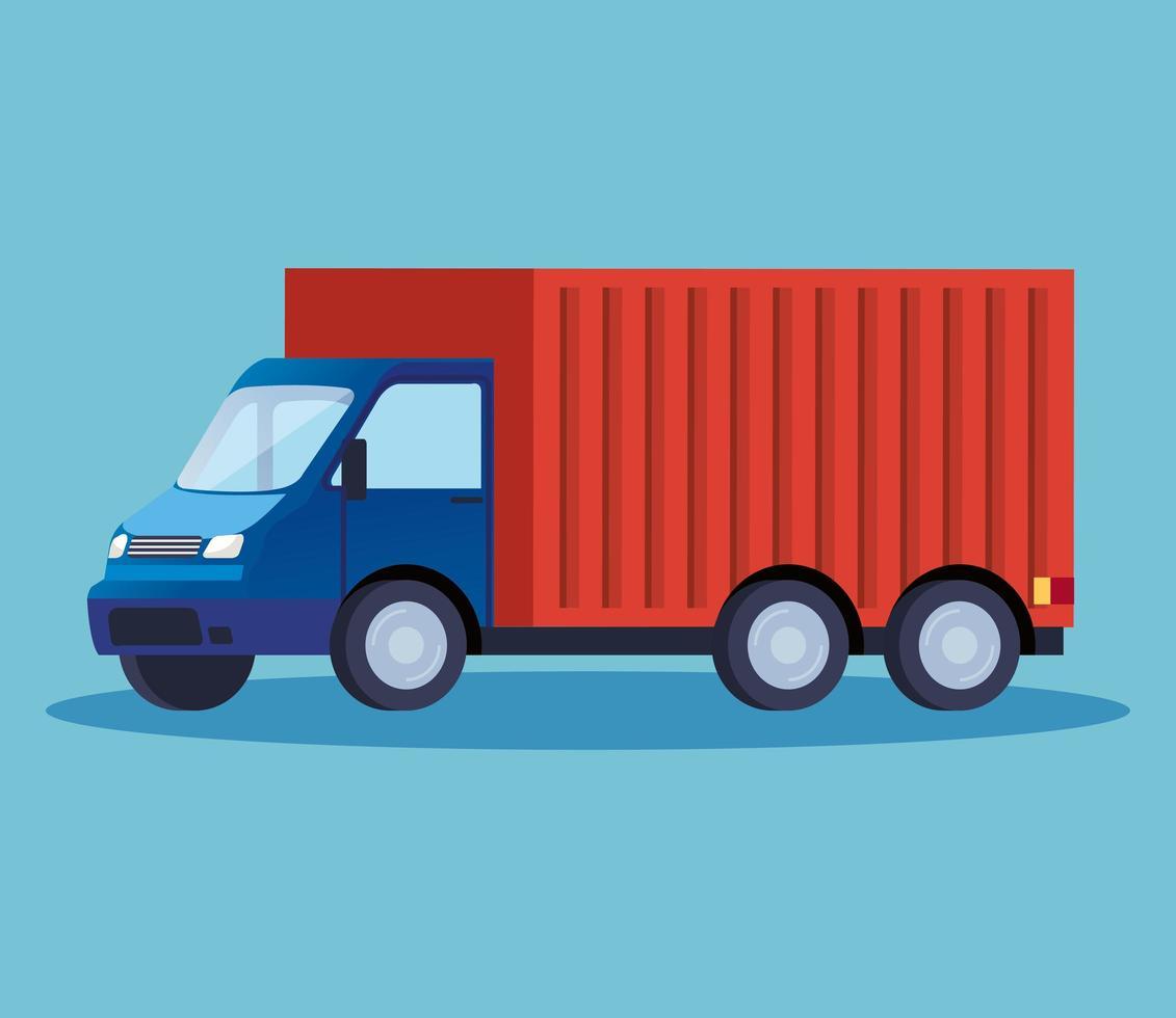 ícone de veículo de serviço de entrega de caminhão vetor