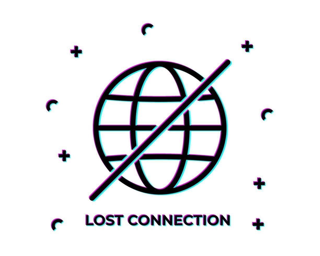 falha de conexão perdida na web vetor