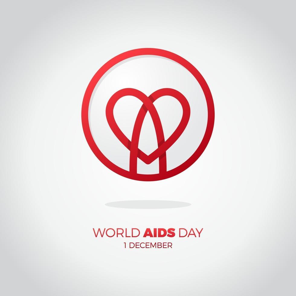 dia mundial da aids 1 de dezembro vetor