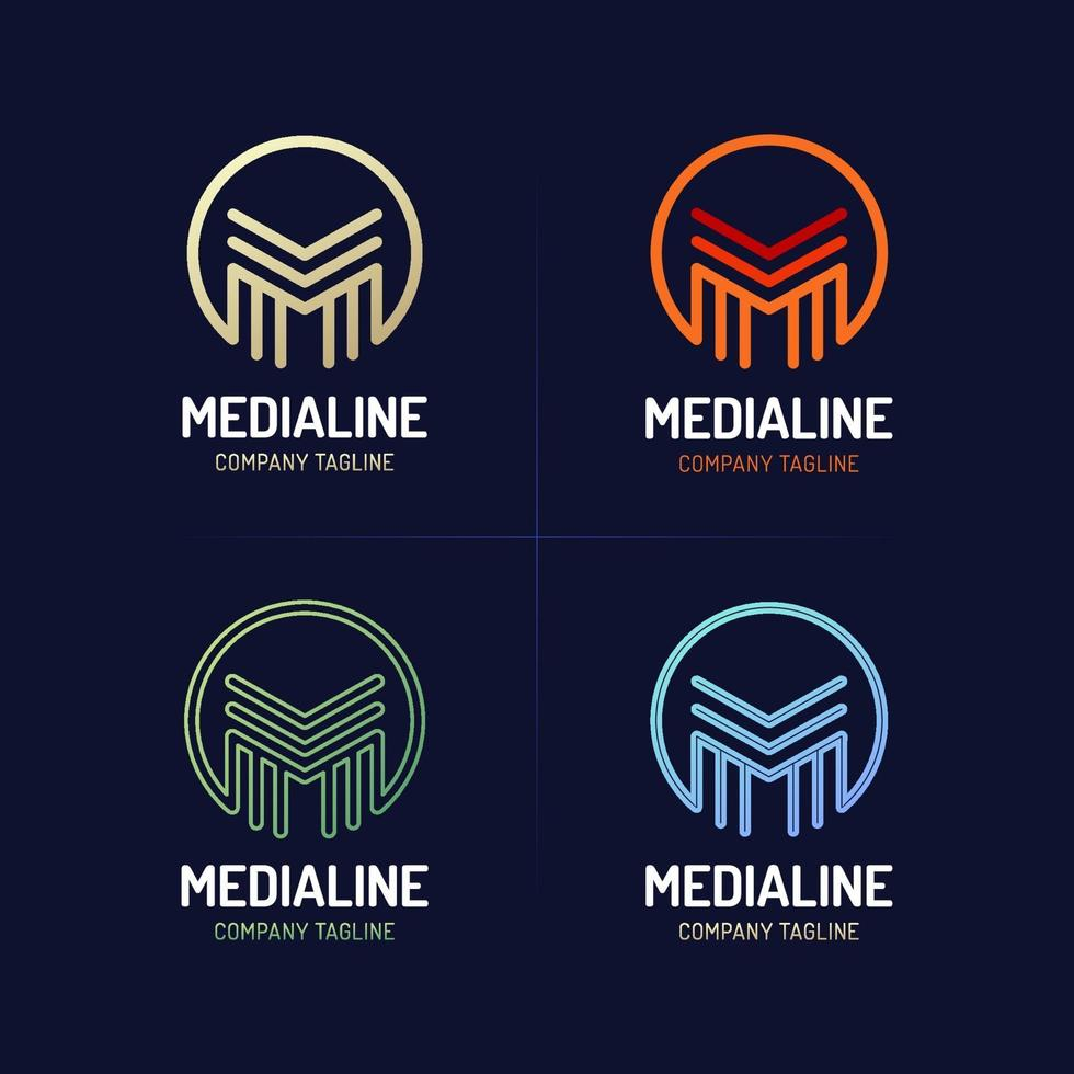 conjunto de ícones da letra m vetor