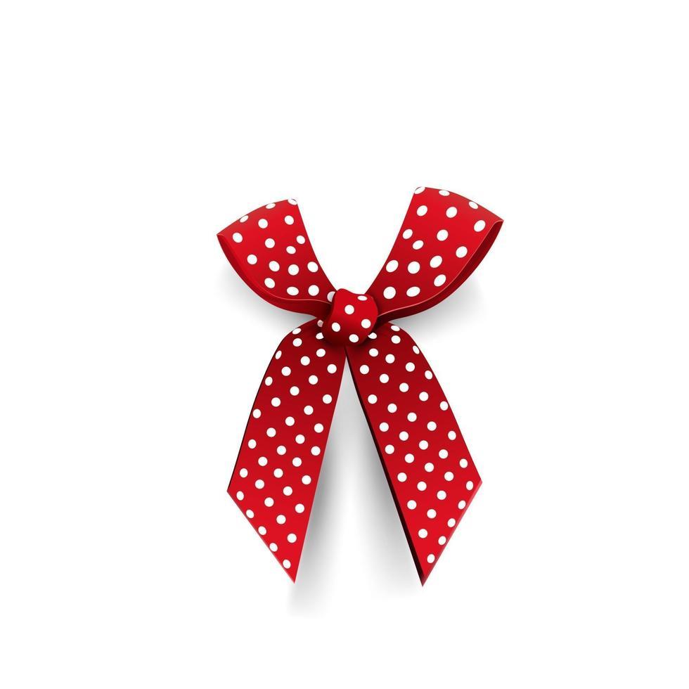 laço vermelho isolado no fundo branco para a sua criatividade vetor