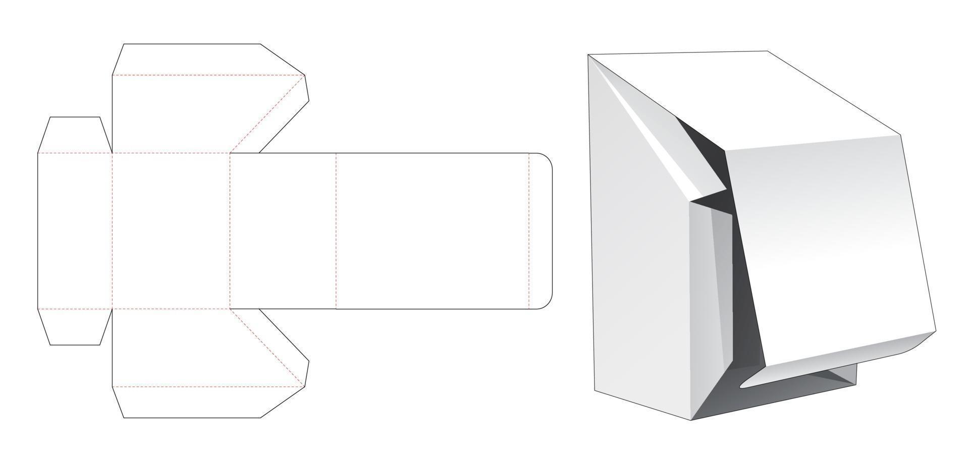 flip box chanfrado com molde de corte de ponto de abertura inferior vetor