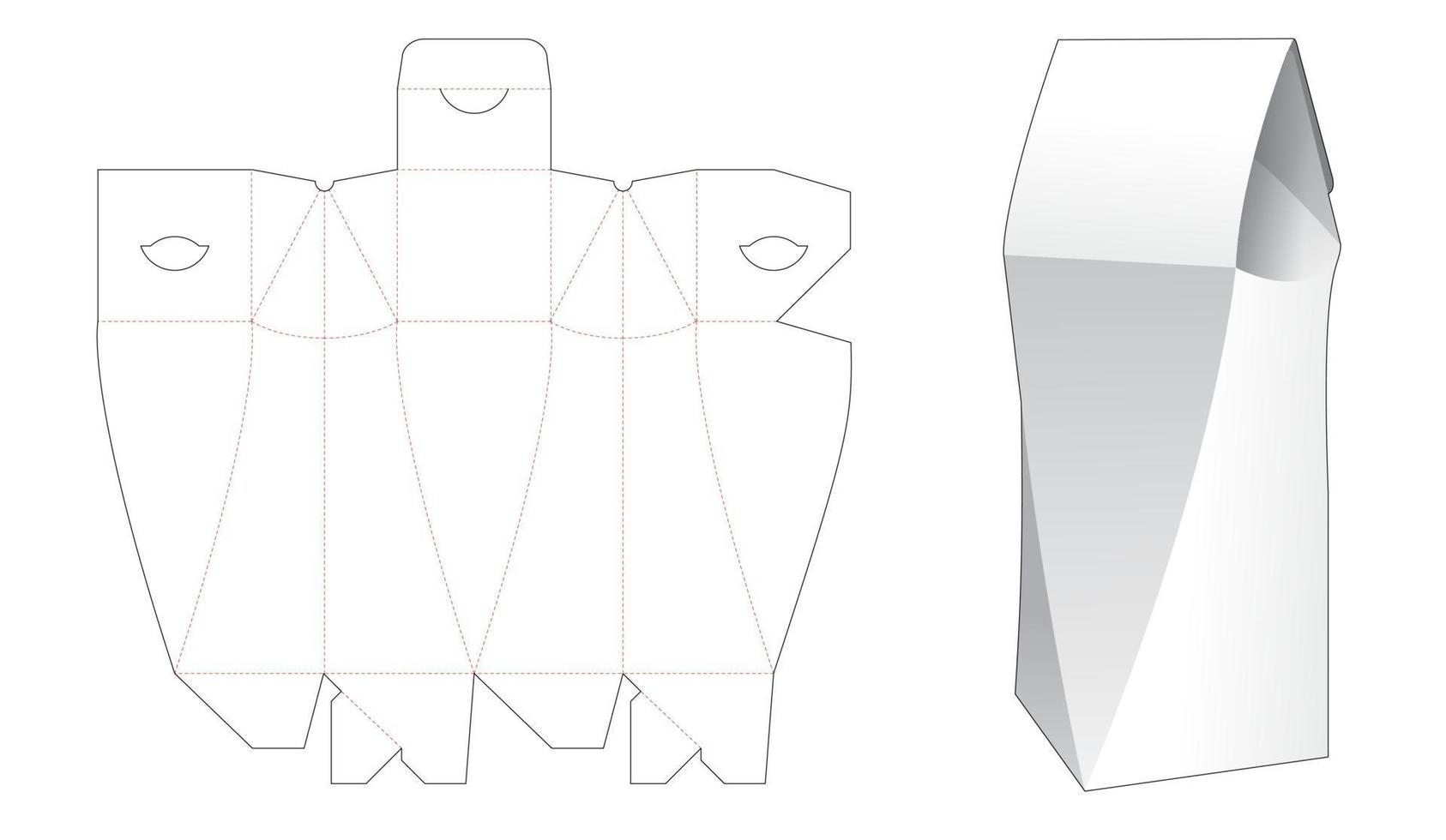 molde chanfrado pylon flip box vetor