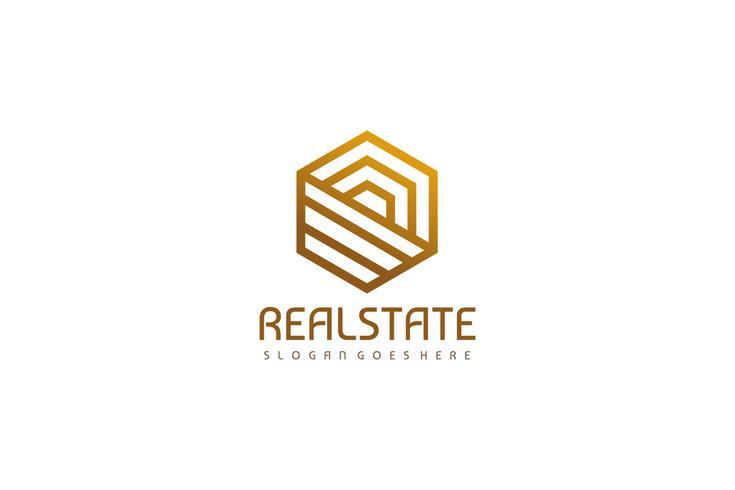 Logotipo imobiliário de luxo vetor