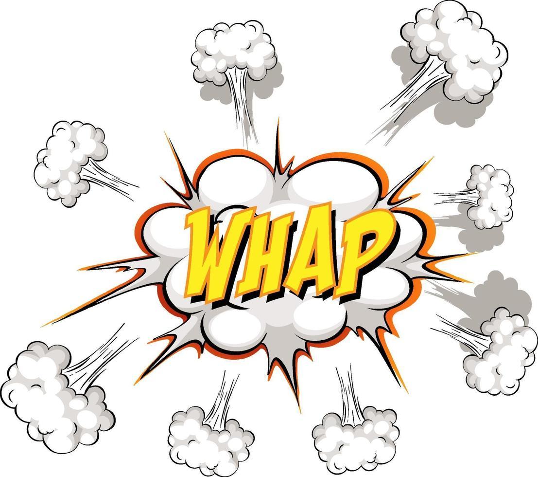 balão de fala em quadrinhos com texto whap vetor