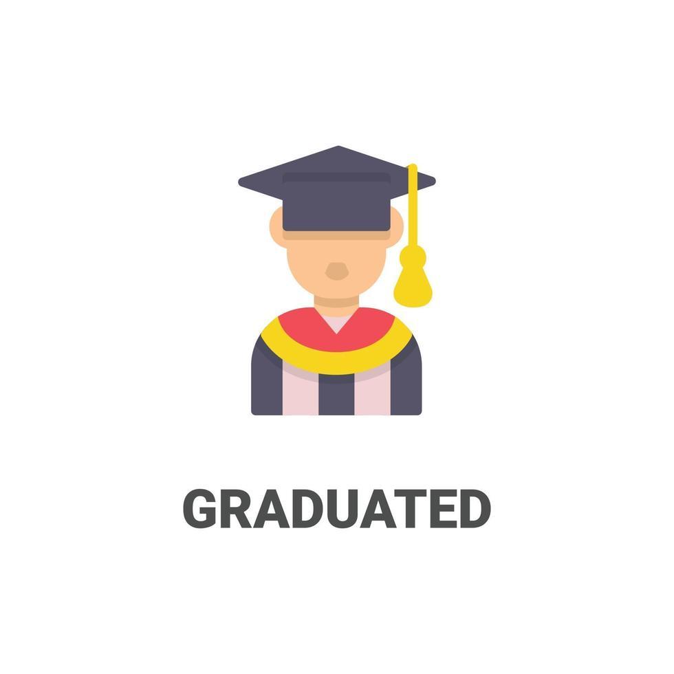 avatar graduado ícone de vetor da coleção de avatar. ilustração de estilo simples, perfeita para seu site, aplicativo, projeto de impressão, etc.