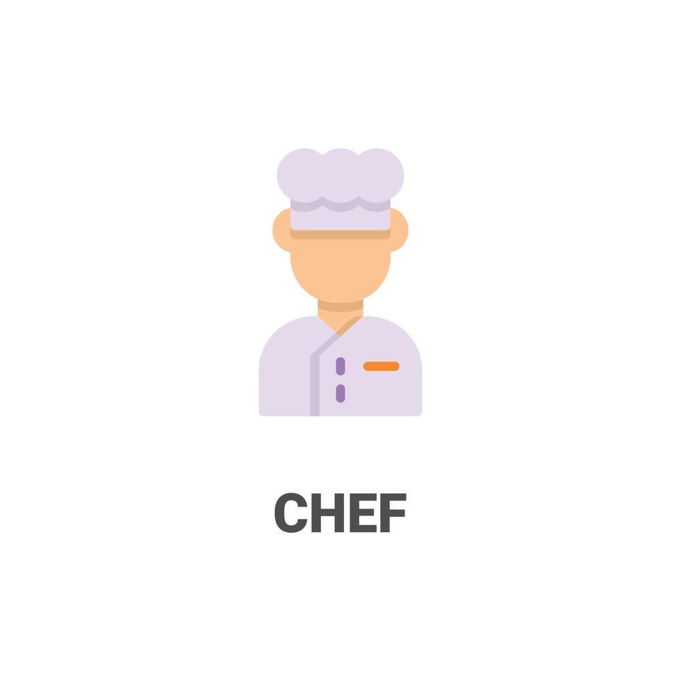 ícone de vetor avatar chef da coleção de avatar. ilustração de estilo simples, perfeita para seu site, aplicativo, projeto de impressão, etc.