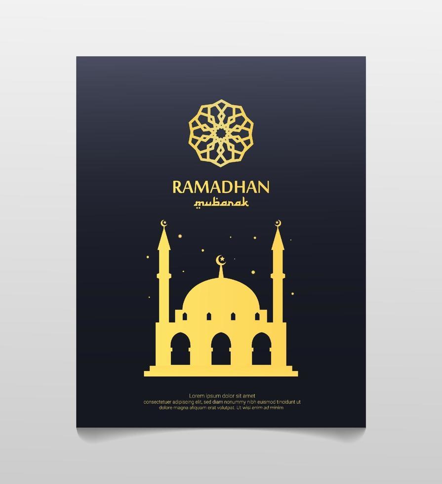 cartaz do ramadan mubarak. ilustração vetorial vetor