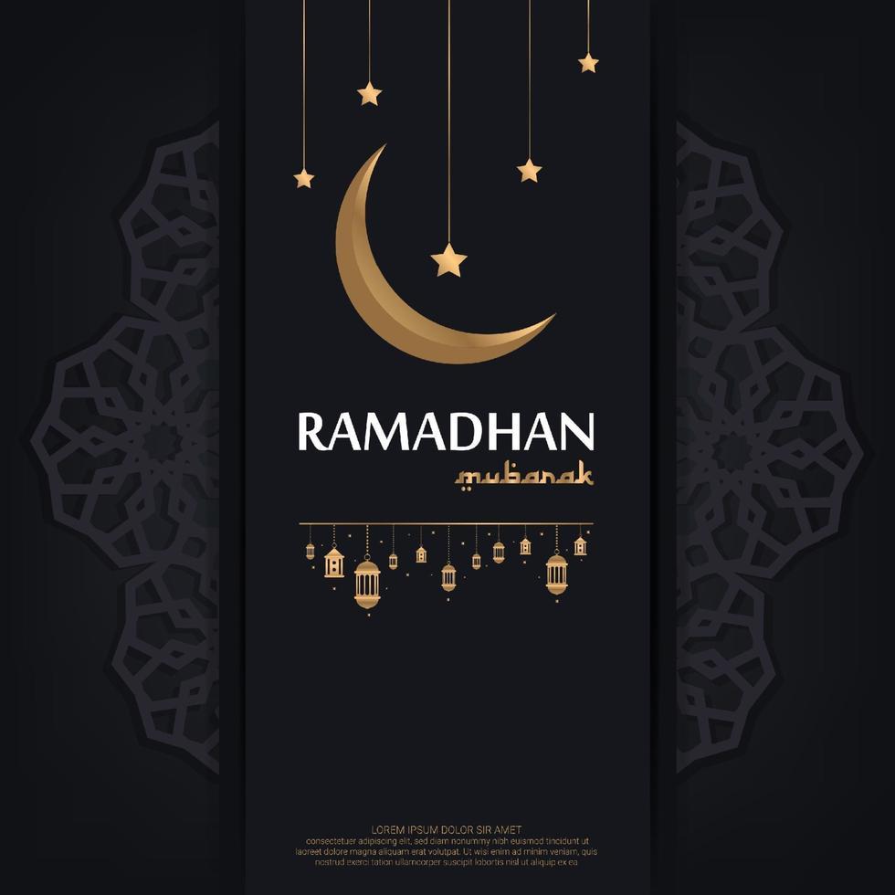 modelo de mubarak ramadan. ilustração vetorial de fundo islâmico vetor