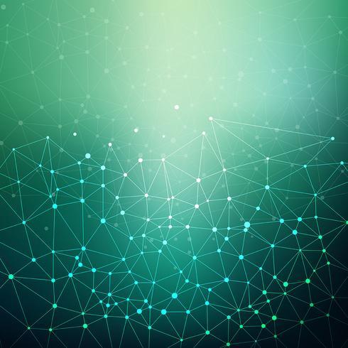 Conectando pontos e linhas de fundo vetor
