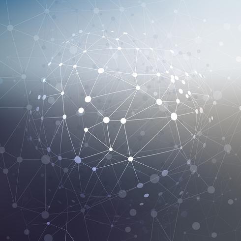 Design de baixo poli com pontos de conexão vetor