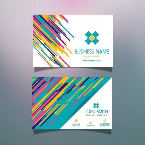 Design moderno cartão de visita vetor