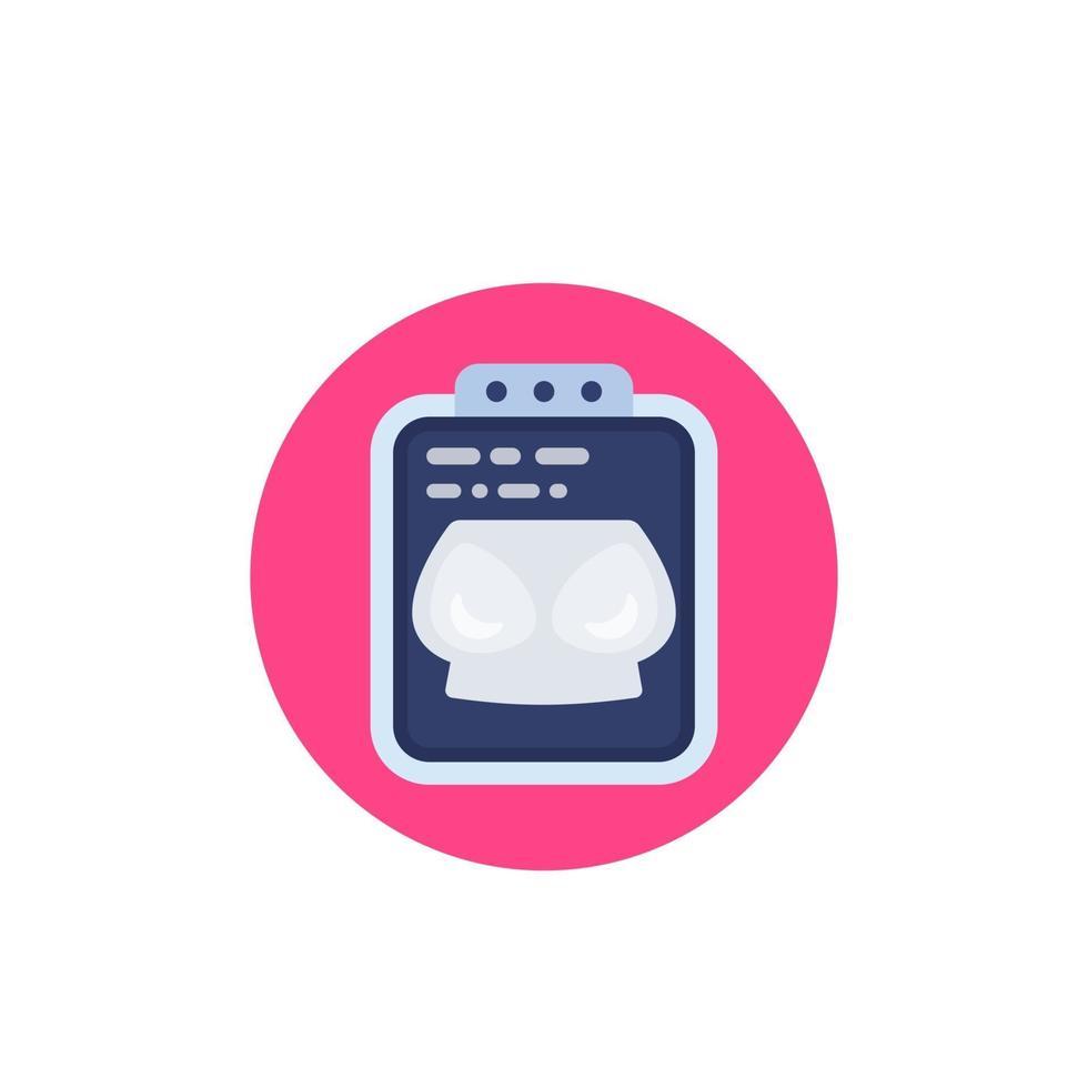 ícone de mamografia em branco, vector.eps vetor