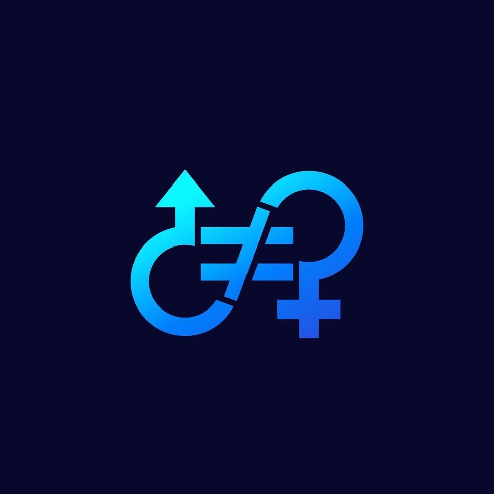 ícone de desigualdade de gênero para web.eps vetor