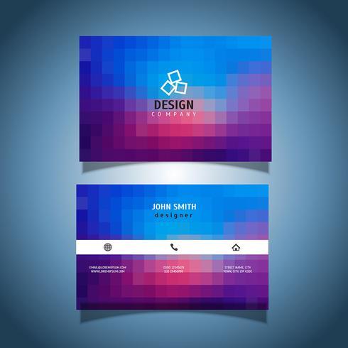 Cartão de visita de design de pixel vetor