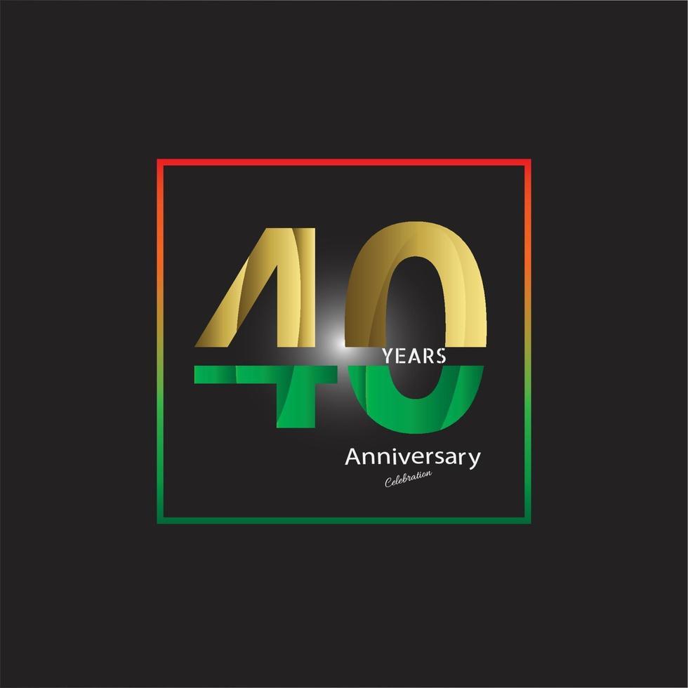 logotipo da celebração do aniversário de ouro de anos, isolado no fundo preto vetor